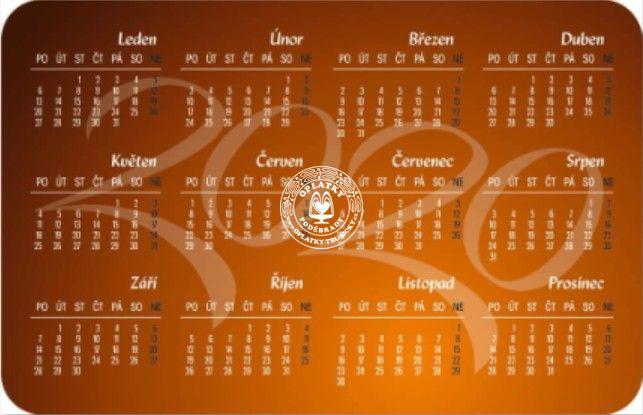 Kalendářík Poděbrady - 2020, verze 2