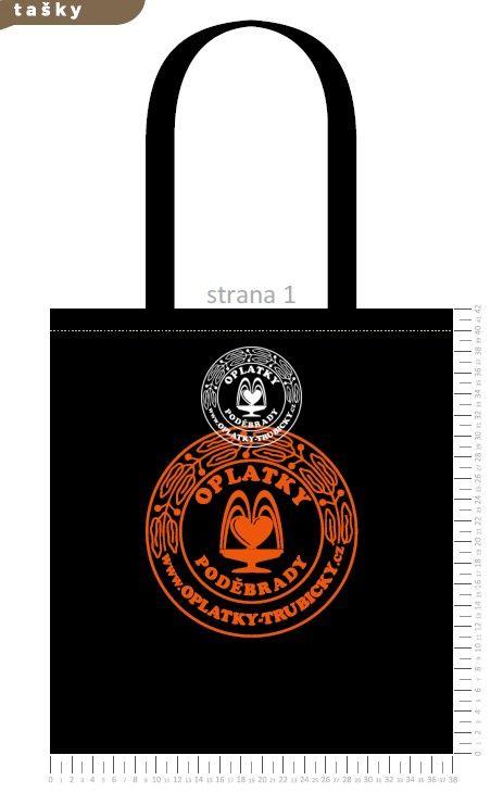 Plátěná taška Poděbrady, černá