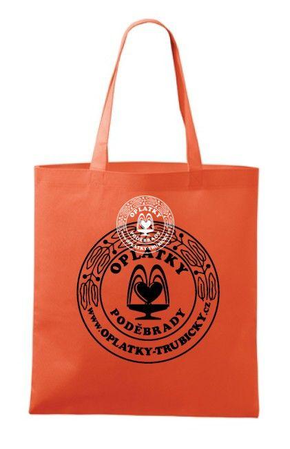 Plátěná taška Poděbrady, oranžová