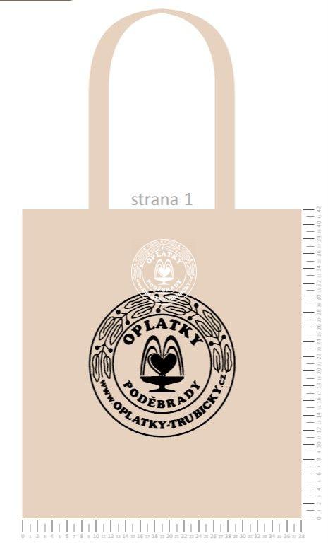 Plátěná taška Poděbrady, natural