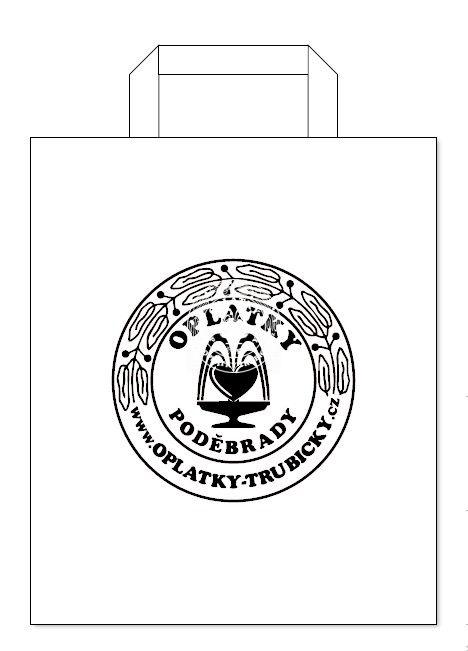 Papírová taška Poděbrady, velikost A4