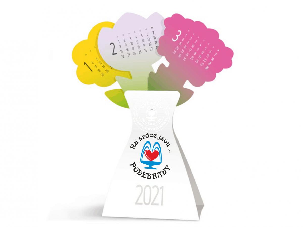Kalendář Poděbrady - 2021, Váza (Kytice)