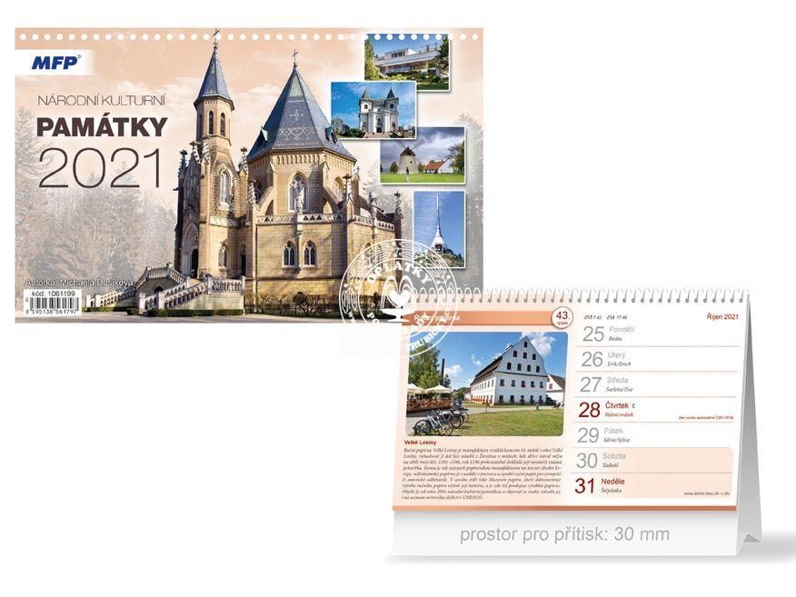 Kalendář 2021, Národní kulturní památky