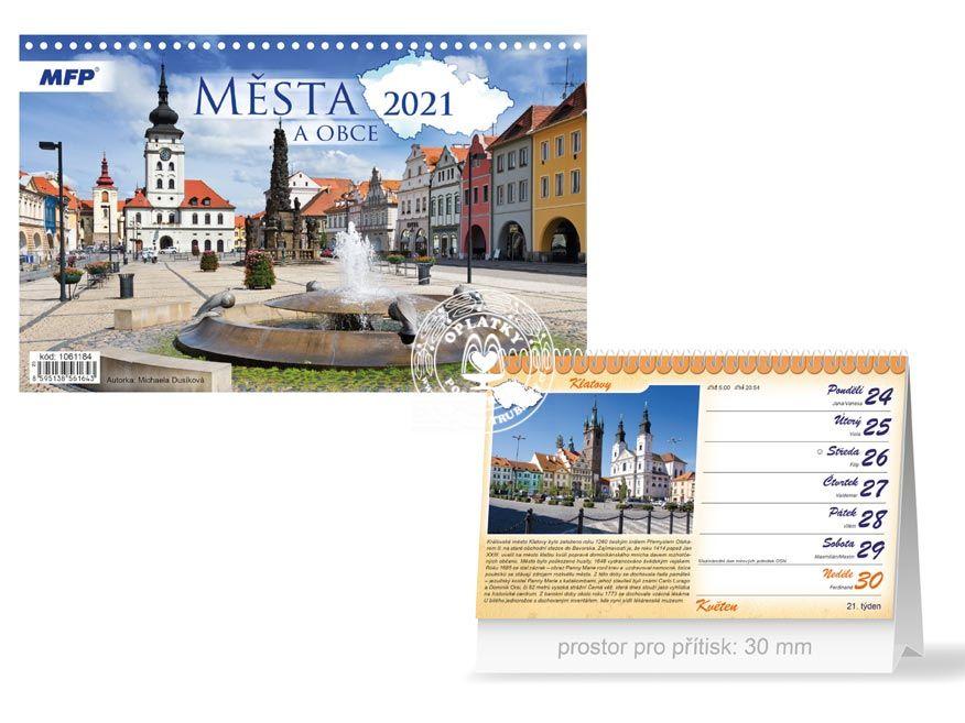 Kalendář 2021, Města a obce