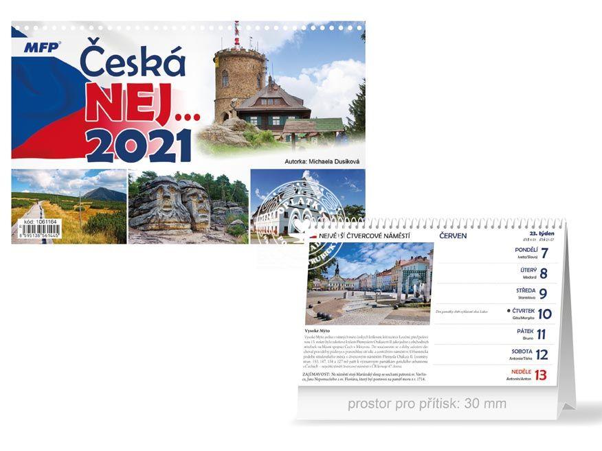 Kalendář 2021, Česká NEJ