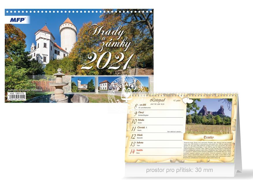 Kalendář 2021, Hrady a zámky