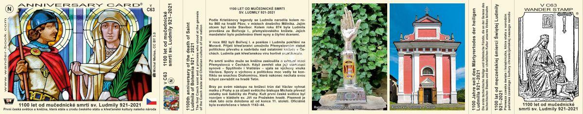 1100 let od mučednické smrti sv. Ludmily 921 - 2021, V-C63