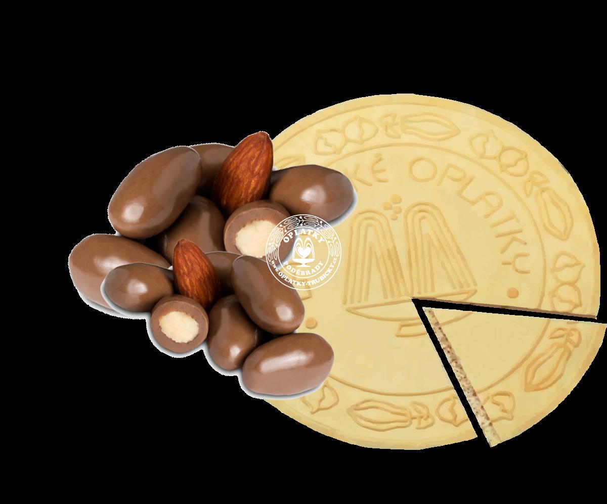 Lázeňské oplatky Mandle v čokoládě