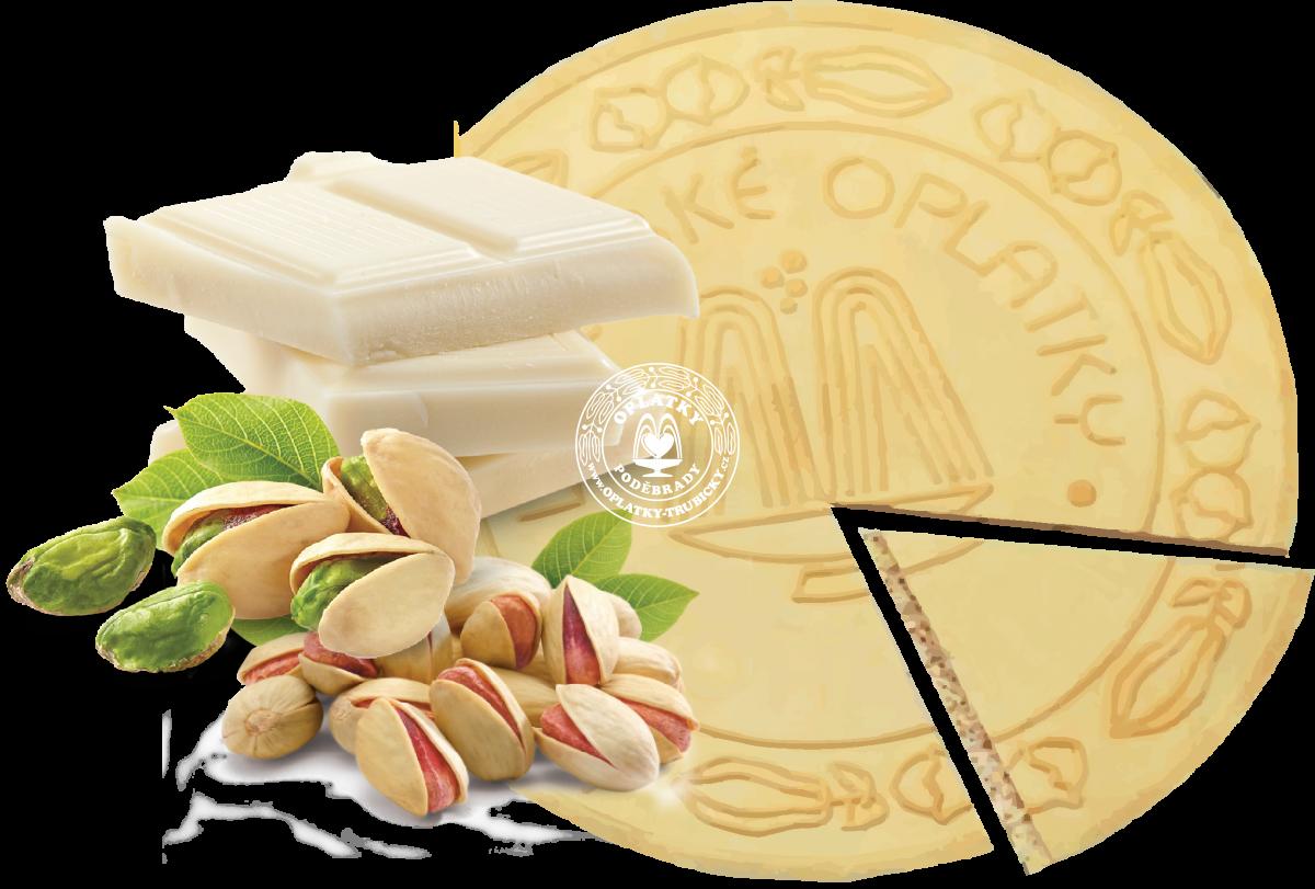Lázeňské oplatky Pistácie s bílou čokoládou