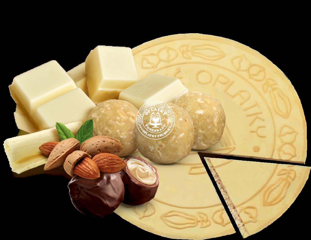 Lázeňské oplatky Marcipán v čokoládě