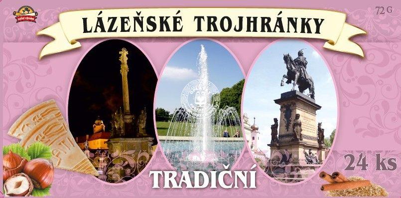 Lázeňské trojhránky - Poděbrady, 24ks