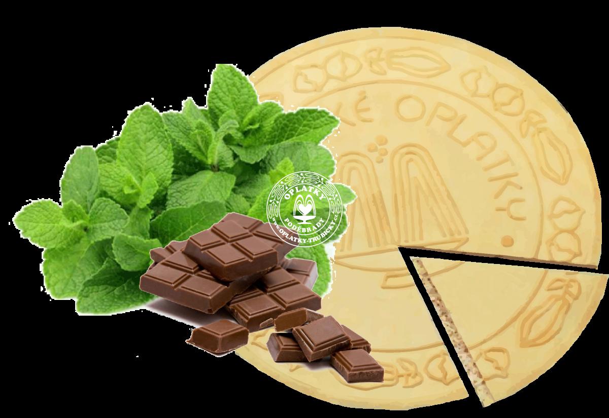 Lázeňské oplatky Máta v čokoládě