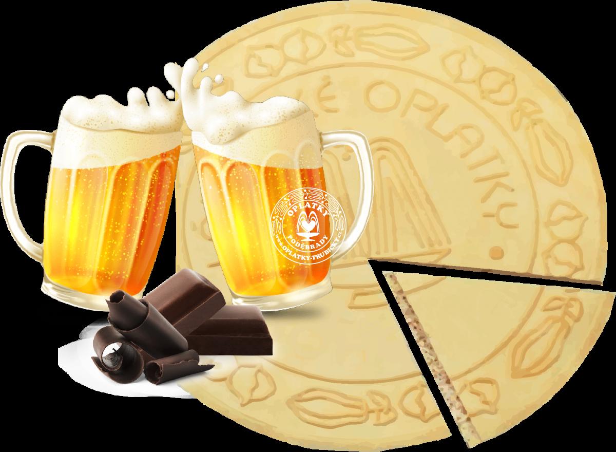 Lázeňské oplatky Pivo v čokoládě