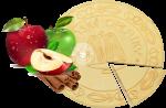 Spa wafers Apple with cinnamon